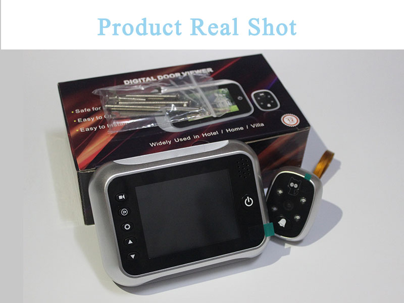 "HTB1QF jhtzJ8KJjSspkq6zF7VXau - New 3.5"" LCD Color Screen Electronic Door Bell Viewer IR Night Door Peephole Camera Photo/Video Recording Digital Door Camera"