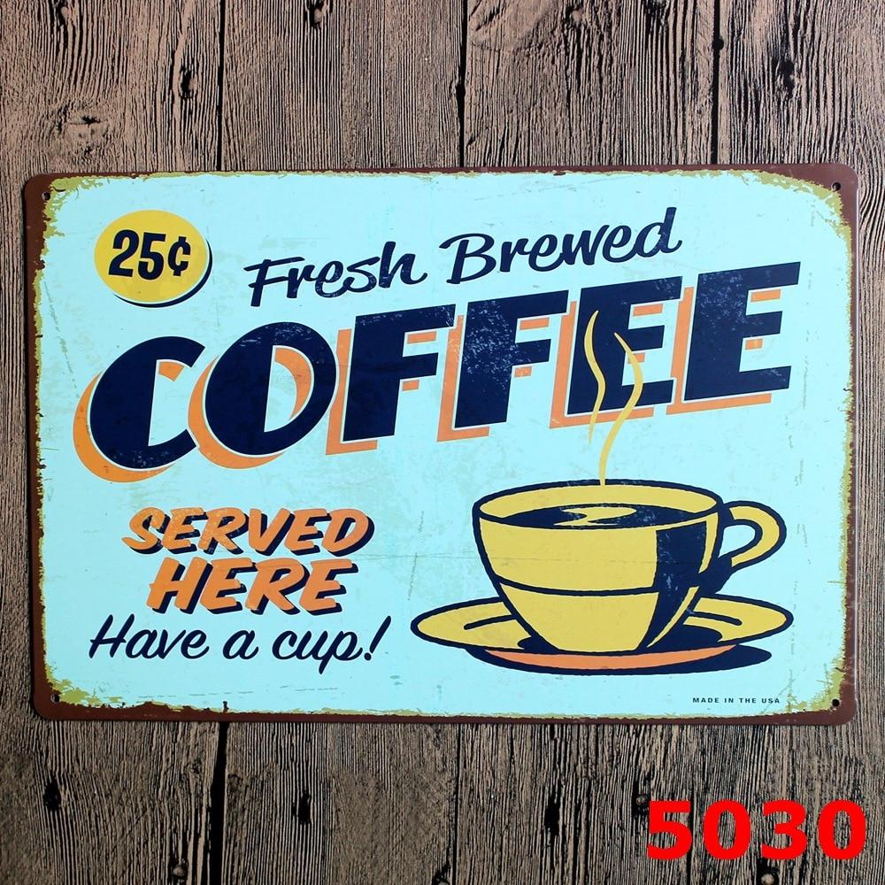 Online get cheap metal coffee cup wall decor aliexpress Metal wall decor cheap
