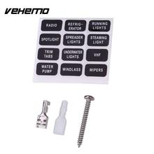 Vehemo Fuse Box 6Way LED Indicator Light Safety PC Wiring Terminal Insurance ABS(China)