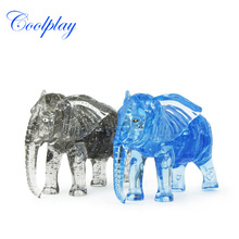 Coolplay Crystal Puzzles Animal Toys 3D Jigsaw Educational Animal Toys Elephant Crystal Puzzles Toys For Children