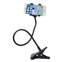 Phone holder Universal Long Arm Lazy Mobile Phone Gooseneck Stand Holder Flexible Bed Desk Table Clip Bracket For iphone(China)