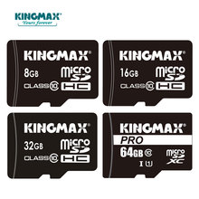 KINGMAX Memory Card Micro SD Card 8GB 16GB 32GB 64GB Class10 micro sd card 32gb micro sd hc card Pass h2testw + adapter reader(China)