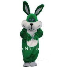 2014 New Green EASTER BUNNY mascot costume Easter holiday Adult Cartoon Character Mascotte Outfit Suit EMS free shipping  SW29