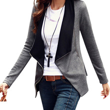 New Fashion Personality Women Jackets Side Zipper Female Jacket Big Size Tracksuits Outwear Lady Coat
