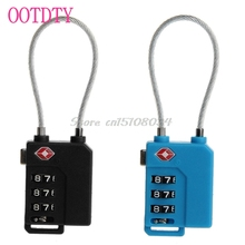 1Pc TSA Resettable 3 Digit Combination Travel Luggage Suit Code Lock Padlock #S018Y# High Quality(China)