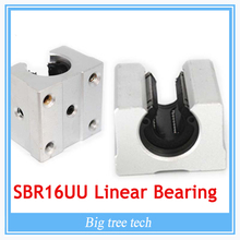 for 3d printer part SBR16UU SBR16 Linear Bearing 16mm Open Linear Bearing Slide block 16mm CNC parts linear slide