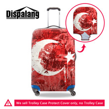 Dispalang Luggage Cover National Flag Series Printing Thick Elastic Stretch Suitcase Protective Cover For 18-30 Inch Trunk Case(China)