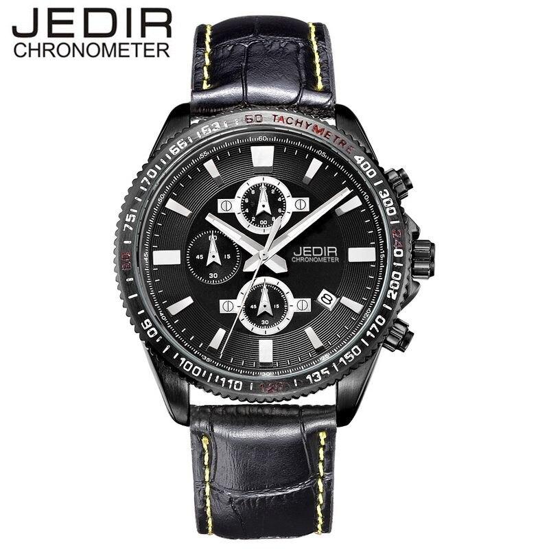 JEDIR Mens Relogio Masculino Day/Chronograph Montre Homme Quartz Watch Sport Wristwatch Gift Box Free Ship<br><br>Aliexpress