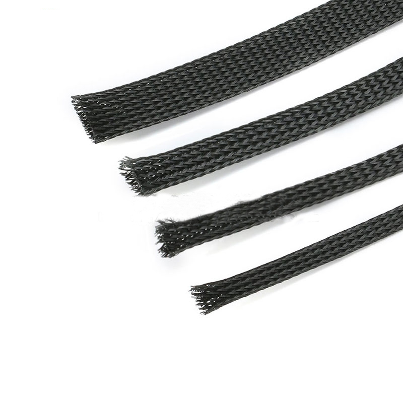 Black Sheath Sleeve Braided Ø 8 M Pet Nylon 1 metre collect cables