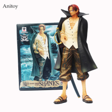 Anime Cartoon One Piece Shanks PVC Action Figure Collectible Model Toys 24cm KT393(China)