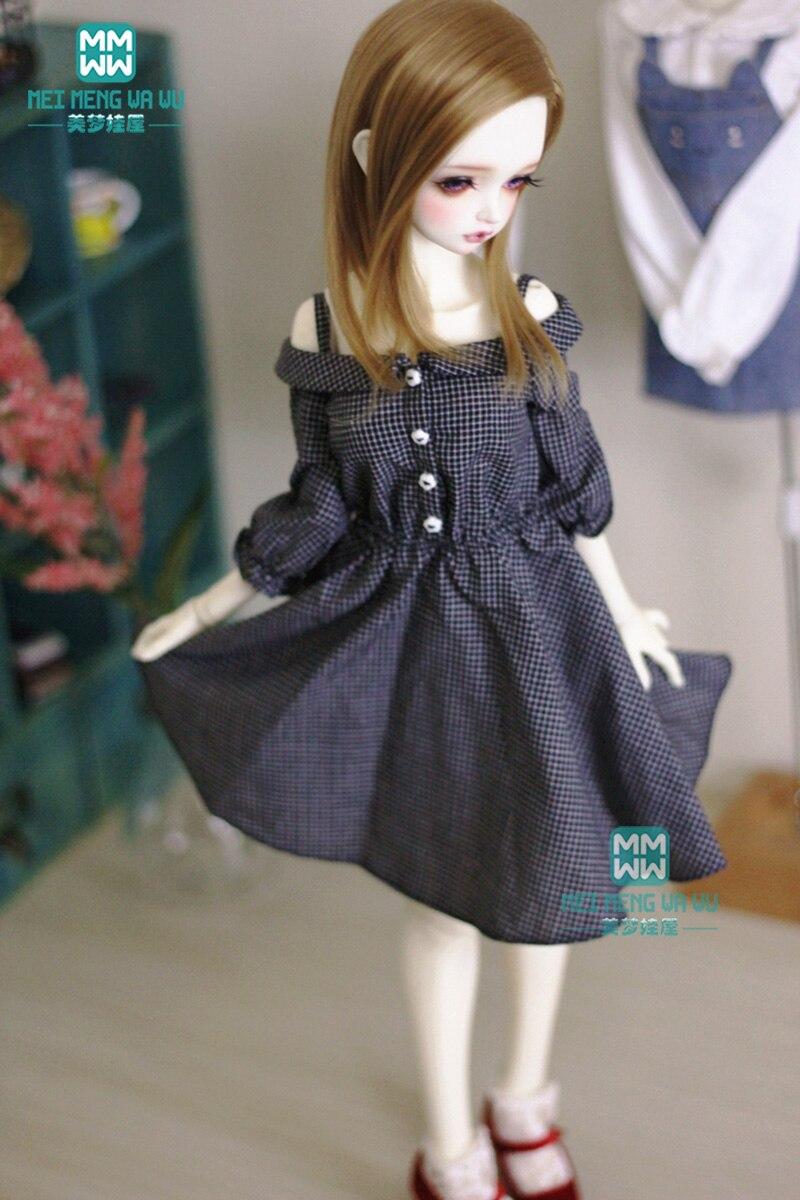 "Black Blue Plaid Print Doll Dress Clothes Fits 18"" American Girl Dolls"