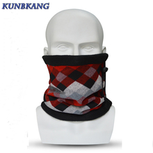 Men Women Warm Winter Mask Cycling Plaid Neck Balaclava Hood Scarf Unisex Casual Sports Thermal Fleece Half Face Ski Mask Beanie(China)