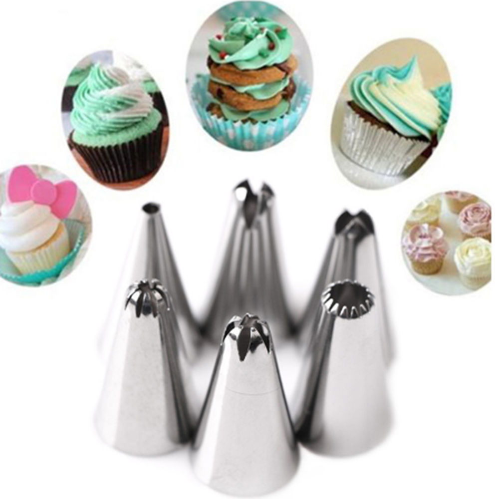 FHEAL 38pcsset Russian Piping Pastry Bag Stainless Steel Nozzle Set Icing Piping Tubes Backware Cake Dessert Decorators -13