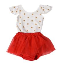 2017 Baby Carters Girls Clothing Set 2 PCS Set Cotton Dot Printed Bodysuit + Briefs Jumpsuit Set