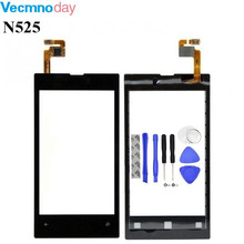 Vecmnoday Original High Quality 4.0'' For Nokia Lumia 525 520 N525 Touch Screen Digitizer Sensor Front Glass Lens panel + tools(China)
