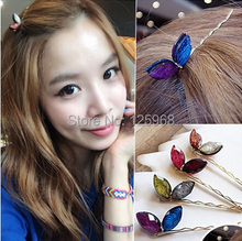 Free Shipping!2015 New Hot Sale Vintage Crystal Butterfly Hair Clips Fashon Women Girls Hair Accessories Hair Barrettes