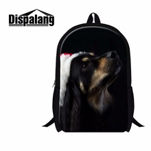 Dispalang Unique Backpacks For Women Christmas Dog Prints Customized School Bags School Bagpack For Teenager Girls Sac A Main