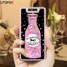 "Glitter Liquid Phone Case For ZTE Blade V8 Case Silicone Cover Dynamic Pink Case For ZTE Blade V8 Cover For ZTE Blade V 8 5.2""(China)"