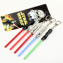 Star Wars keychain Lightsaber kylo ren 2016 New the Force Awakens keychain collectables lightsaber green anakin luke skywalker