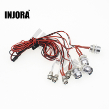 Red/ White Color 8 LED Light System for RC Car Truck Model RC Headlight Taillight Upgrade Parts(China)