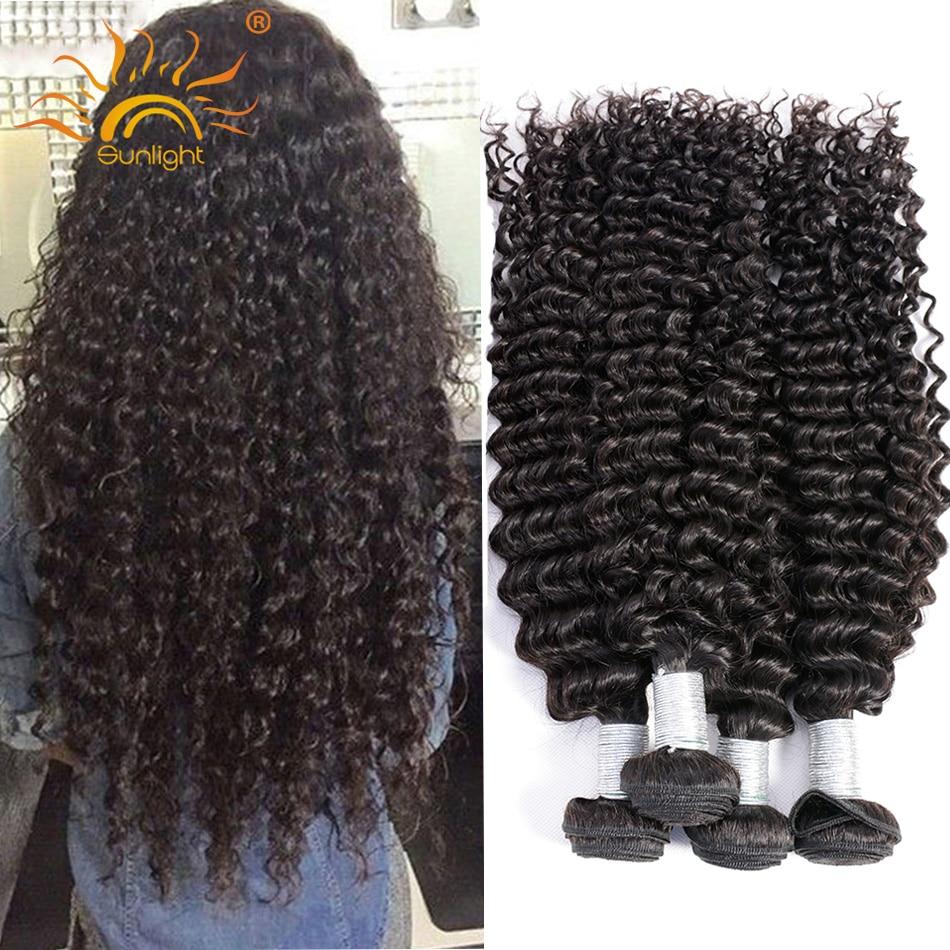 Sunlight 8A Malaysian Curly Hair Deep Curly Wet and Wavy Human Hair Weave Bele Virgin Hair Malaysian Deep Wave 5 Bundle Deals<br><br>Aliexpress