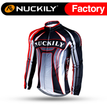 Nuckily Winter Cycling brushed fleece Jacket Custom cutting panel sports Thermal apparel NJ533-W(China)
