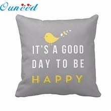 Home Wider Hot Sell Good Quality Yellow Bird Letter Square Throw Pillow Case Cushion Cover Home Decor Free Shipping Wholesale