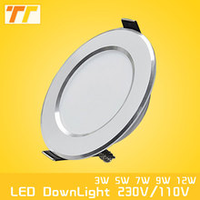 High quality LED downlight 3W / 5W / 7W / 9W / 12W / 15W LED light indoor lamp AC220V LED Bulb lamp Warm white /Cold White