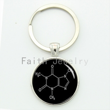 New idea gift chemical formula key chain THC molecular formula keychain novalty biochemist students teachers gift KC565-566