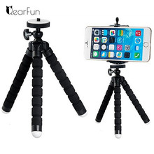 Mini Flexible Sponge Octopus Tripod for iPhone Samsung Xiaomi Huawei Smartphone Tripod Stand Holder for Gopro Camera DSLR Mount(China)