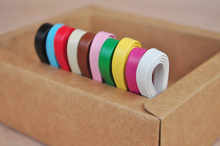 10colors 3mm 5mm width PU leather mini doll accessories for belts bags DIY sewing supplier 10meters/lot(China)