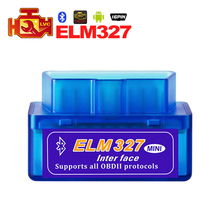 Mini ELM327 Bluetooth 2.0 Interface V2.1 OBD2 OBDII scanner Auto Diagnostic-outil ELM 327 pour Android couple/PC OBD 2 adaptateur(China)