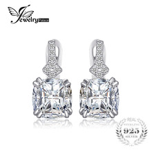 JewelryPalace Vintage 3.5ct Cushion-Cut Cubic Zirconia Clip On Earrings Fashion 925 Sterling Silver Wedding Jewelry For Girl(China)