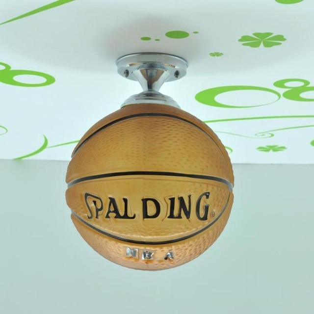 Single head Basketball Footbal Glass Droplight Led Creative Children Room Pendant Light bedroom decoration Light<br>