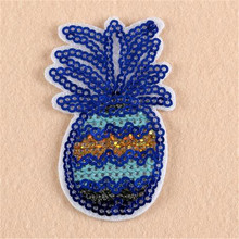 Sequins fruit badge ananas patches for clothing, jacket, autumn dress, hoodies, polo, socks, jeans woman, faldas, vestidos, hat