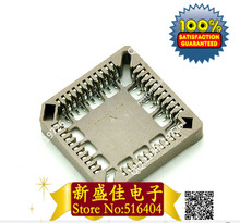 SMD IC Block 44P PLCC44 brown seat 44 core chip SMD PLCC socket shipping 10pcs/lot