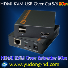 60m USB KVM HDMI Extender Support 3D 1080P IP TV Converter Support Keyboard and Mouse Signal RF to AV Converter(China)