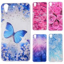 "Phone Cases sFor Huawei Y6 Y 6 5.0"" Flowers Rose Plants Butterfly Pattern Clear Soft TPU Back Cover for Huawei Honor 4A 5.0"""