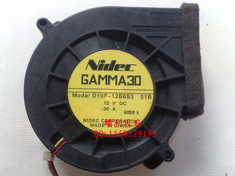 Free Delivery.GAMMA30 D10F-12B6S3 01B 12V 0.30A 9733 9CM Turbo Fans<br>