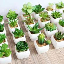 Artificial succulents Land Lotus Plants Grass Artificial Plants Fake Flower Wedding party decorations for home garden plant Y 5(China)