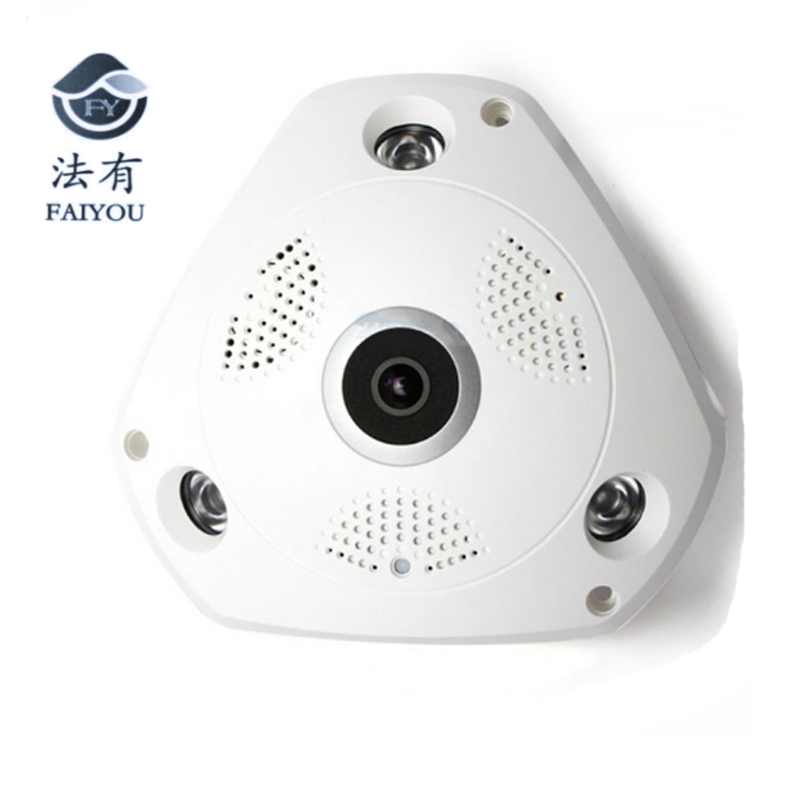 360 Degree Panoramic IP Camera Fisheye WIFI CCTV Cam PTZ 3D VR Video P2P 960P  Audio For Home Ofiice Security Remotely 3MP<br>
