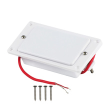 FLEOR Sealed Dual Hot Rail Electric Guitar Humbucker Pickup 55mm Rail Pole Piece Ceramic Pickup with Frame , White(China)