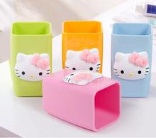 Cartoon Candy Color Hello Kitty Melamine Coffee Milk Tea Mug Cup Children Toothbrush Holder(China)