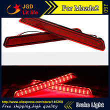 Free shipping Tail light parking warning rear bumper reflector for Mazda2 Mazda 2 M2 Car styling