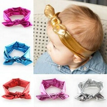 Free shipping 1pcs 7colors  Cute Bow Elasticity Headband For Girls Hair Accessories Fashion childrens  Headwear
