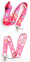 Wholesale Free shipping 100pcs hot pink my little pony cell phone/ keychains /Neck Strap Lanyard M-04