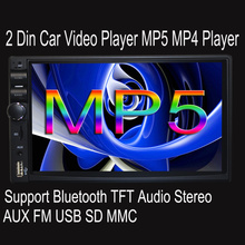 Russian 2 Din Car Stereo Radio Player 7 inch HD In Dash Touch Screen Bluetooth Car Player Support FM/MP5/USB/AUX Car Electronics(China)