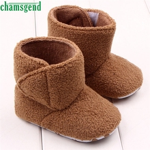 CHAMSGEND Best Seller  baby shoes baby moccasins cute winter autumn winter Baby Coral Fleece Soft Sole Warm Shoes Boots S35