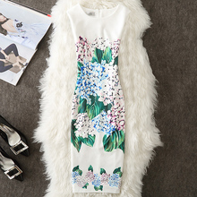Buy Fenghua Women Summer Dress 2017 New Floral Print Vintage Dress Plus Size Women Casual Office Pencil Bodycon Dress 3XL 4XL for $7.78 in AliExpress store