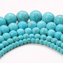 LNRRABC Fashion Round Green Color Space Beads For Jewelry Making 4 6 8 10 12 MM perles pour la fabrication de(China)